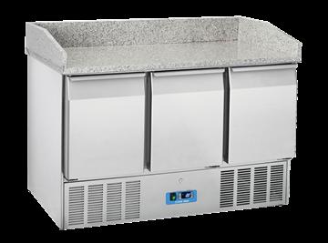 Εικόνα της Ψυγείο Πάγκος με Γρανίτη Σαλατών- Πίτσας με 3 πόρτες, 140 cm