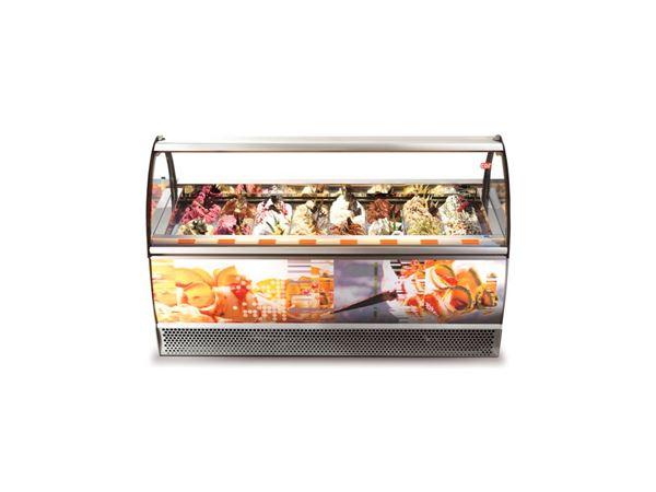 Εικόνα της Βιτρίνα χύμα παγωτού Premium 1.84 m για 20 λεκάνες, GAIA 20 [LX] CRYSTAL