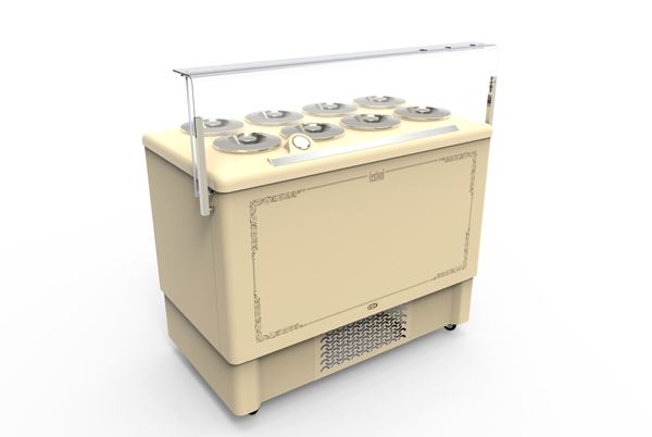 Εικόνα της Βιτρίνα χύμα παγωτού Premium 1.18 m για 8 λεκάνες, FESTIVAL 8 CRYSTAL