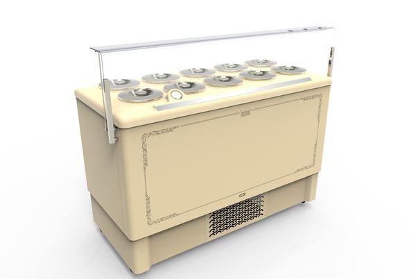 Εικόνα της Βιτρίνα χύμα παγωτού Premium 1.43 m για 10 λεκάνες, FESTIVAL 10 CRYSTAL