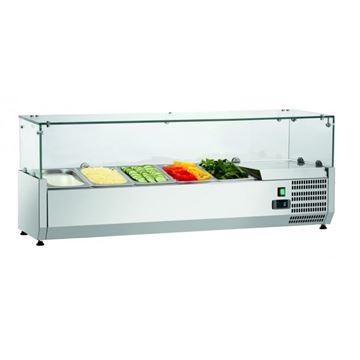Εικόνα της Ψυγείο Βιτρίνα Σαλατών Επιτραπέζιο, 1.20 m, SAL 1200-33