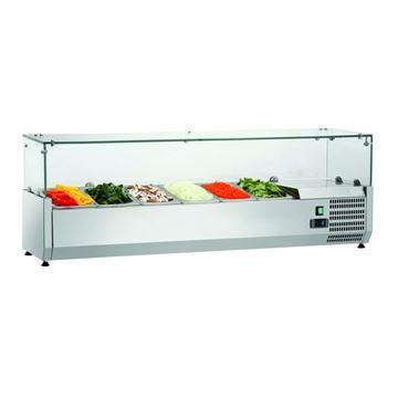 Εικόνα της Ψυγείο Βιτρίνα Σαλατών Επιτραπέζιο, 1.50 m, SAL 1500-33