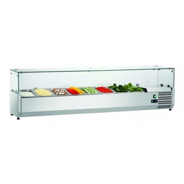 Εικόνα της Ψυγείο Βιτρίνα Σαλατών Επιτραπέζιο, 1.80 m, SAL 1800-33