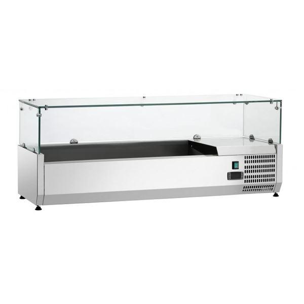 Εικόνα της Ψυγείο Βιτρίνα Σαλατών Επιτραπέζιο, 1.20 m, SAL 1200-38