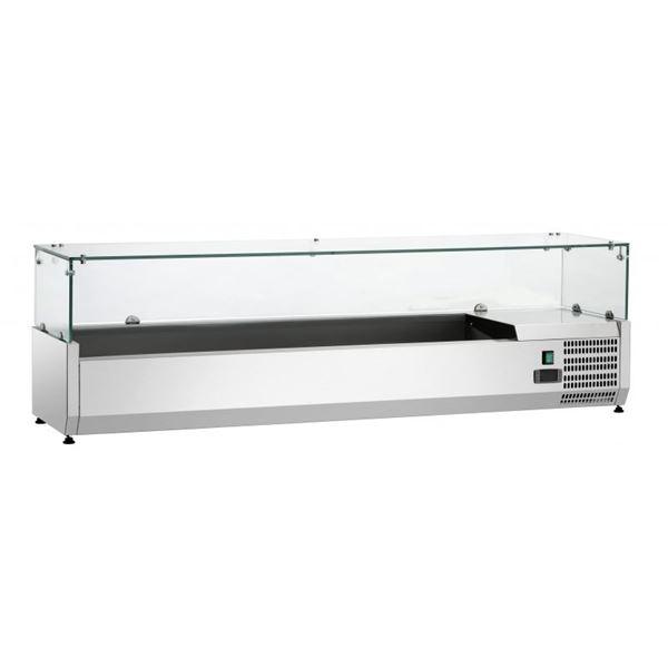 Εικόνα της Ψυγείο Βιτρίνα Σαλατών Επιτραπέζιο, 1.50 m, SAL 1500-38