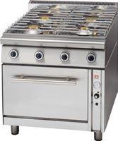 Εικόνα της Κουζίνα Αερίου με 4 Εστίες & Φούρνο Αερίου