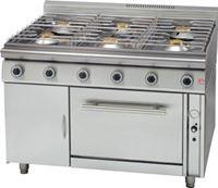 Εικόνα της Κουζίνα Αερίου με 6 Εστίες & Φούρνο Αερίου